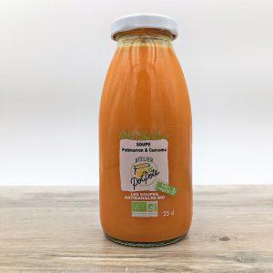 Soupe bio potimarron et curcuma