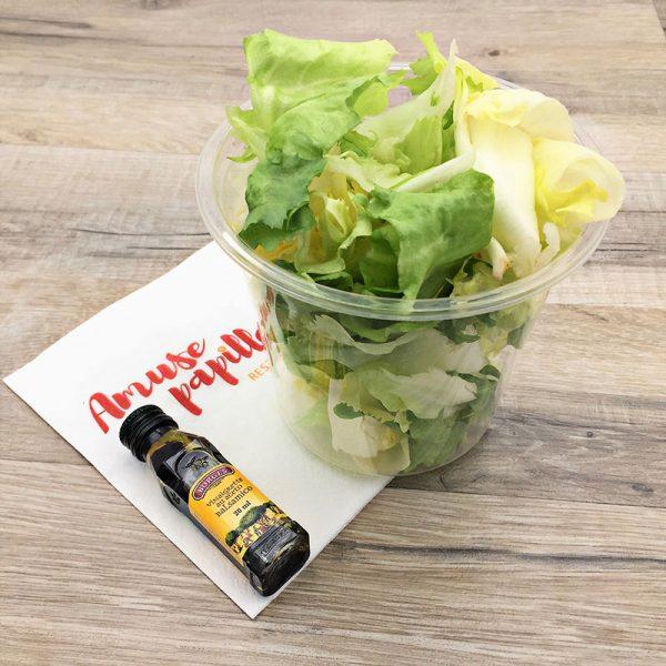 Salade et vinaigrette balsamique
