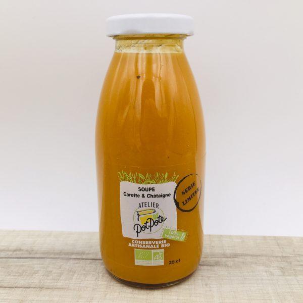 Soupe bio carotte et châtaigne