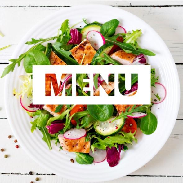 Poulet, radis, tomate, salade, mâche et roquette