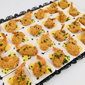Ramequin crevettes panées