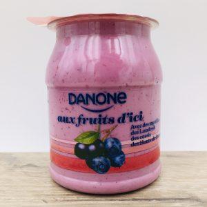 Yaourt Danone myrtilles et cassis