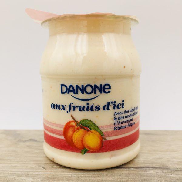 Yaourt Danone abricots et nectarines