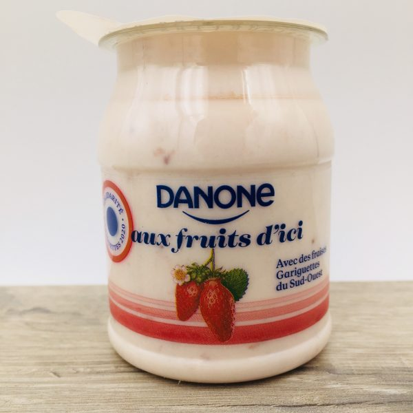 Yaourt Danone fraises